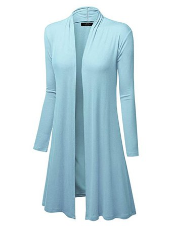 MBJ Womens Long Sleeve Open Front Long Cardigan - Made in USA at Amazon Women's Clothing store