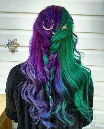two tone hair