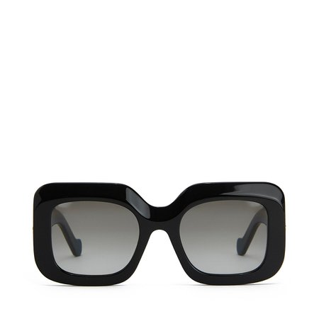 Acetate Rectangular Sunglasses Black - LOEWE
