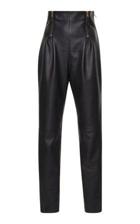 High Waisted Leather Pant by Versace | Moda Operandi