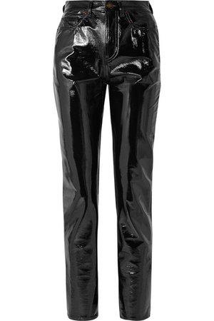 Saint Laurent   Vinyl slim-leg pants   NET-A-PORTER.COM