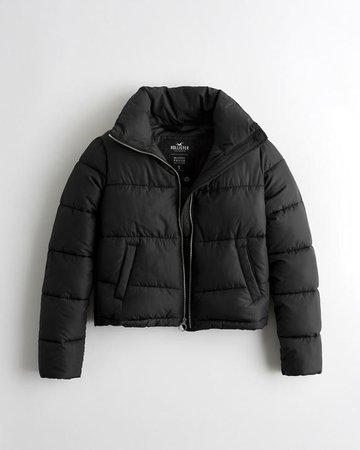 Girls Mockneck Puffer Jacket | Girls Clearance | HollisterCo.com