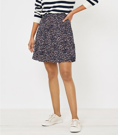 Floral Tiered Skirt | LOFT