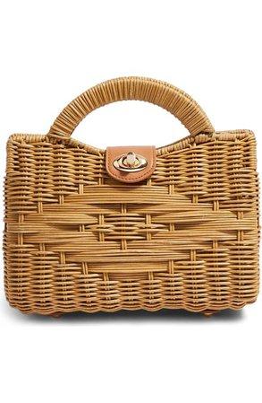Topshop Saffi Woven Wicker Top Handle Bag | Nordstrom