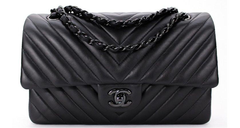 Chanel classic flap black hardware
