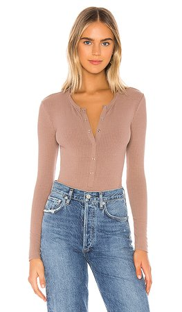 Privacy Please Peoria Bodysuit in Taupe | REVOLVE