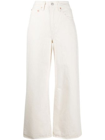 Levi's Ribcage Wide-Leg Jeans 791120009 Neutral | Farfetch