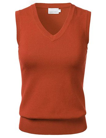 Women's Solid Classic V-Neck Sleeveless Pullover Sweater Vest Top at Amazon Women's Clothing store