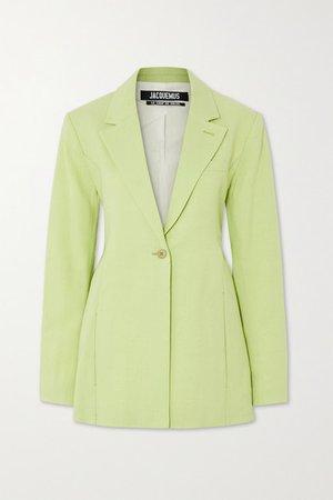 Tablier Hemp-blend Blazer - Light green