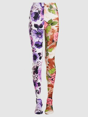 Richard Quinn - 50/50 Floral-Print Stretch-Jersey Leggings | The Modist