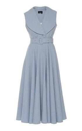 Notched Collar Midi Dress by Anouki   Moda Operandi