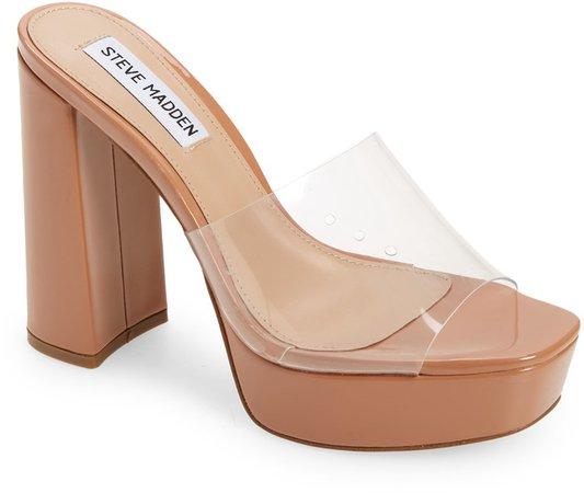 Lavanya Clear Platform Slide Sandal