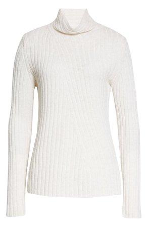 Vince Twist Neck Wool & Cashmere Turtleneck Sweater | Nordstrom