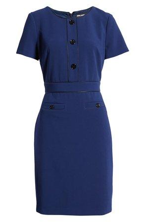 Karl Lagerfeld Paris Button Sheath Dress | Nordstrom