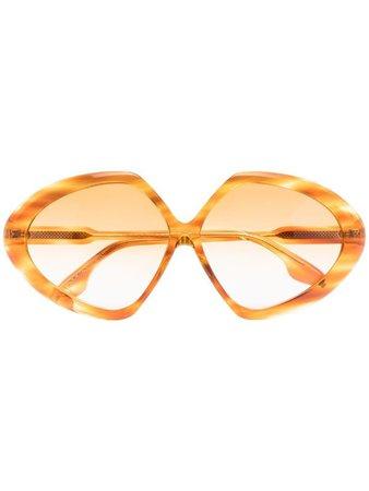 Victoria Beckham Eyewear Butterfly oversized sunglasses - FARFETCH