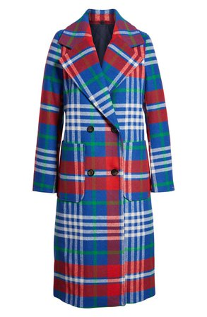 TOMMY JEANS Long Plaid Coat | Nordstrom
