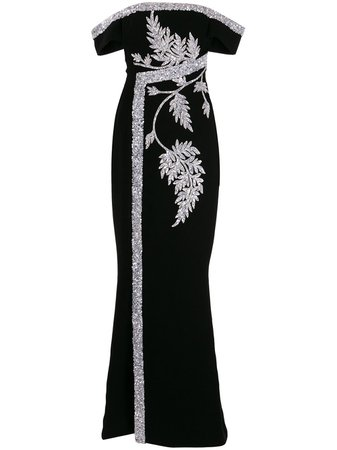 Saiid Kobeisy Floral Embroidered Maxi Dress Ss20 | Farfetch.Com