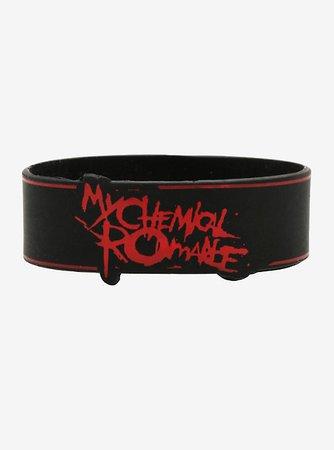 My Chemical Romance Logo Rubber Bracelet