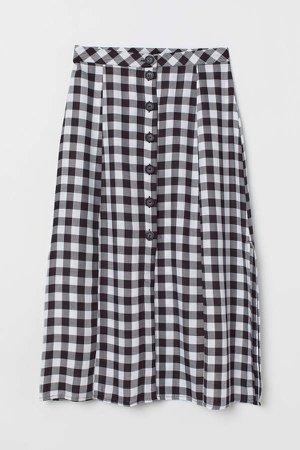 Checked Skirt - Black