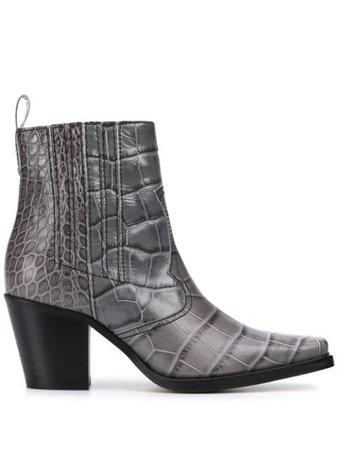 GANNI Phantom Ankle Boots - Farfetch