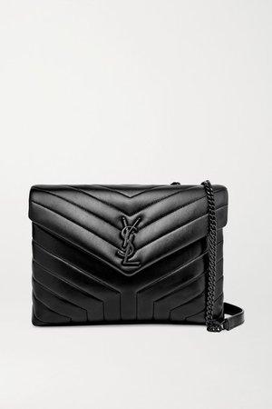 Loulou Medium Quilted Leather Shoulder Bag - Black