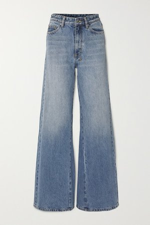 Kicker High-rise Wide-leg Jeans - Mid denim