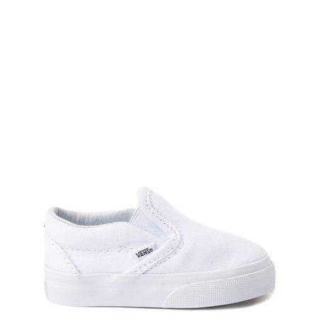 Vans Slip On Skate Shoe - Baby / Toddler - White | Journeys