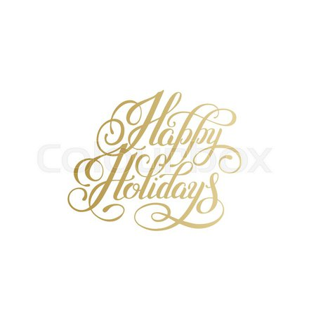 gold happy holidays vector - Google Search