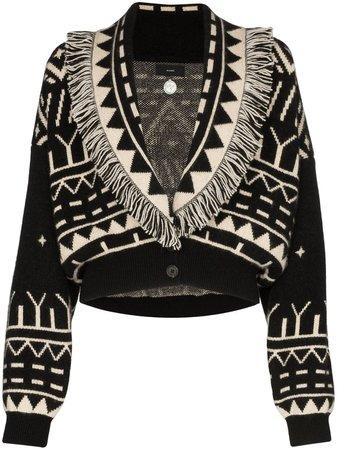Alanui shawl-lapel Cropped Cardigan - Farfetch
