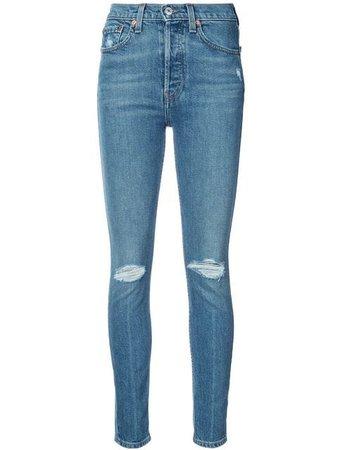 Re/Done Calça Jeans Skinny - Farfetch