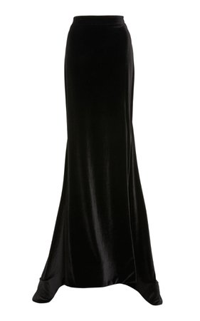 Velvet Trumpet Skirt by Christian Siriano | Moda Operandi