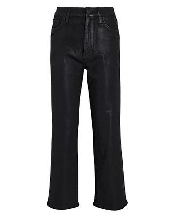 Hudson Jeans Remi Coated Straight-Leg Crop Jeans   INTERMIX®