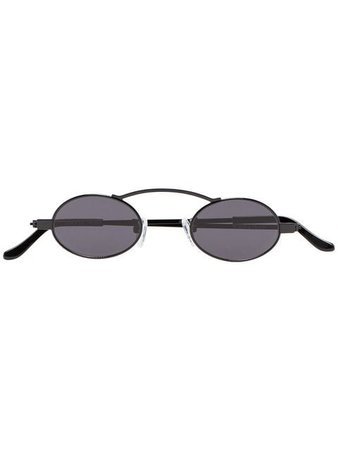 Roberi & Fraud Black Doris 2.0 Round Frame Sunglasses - Shop Online - Fast Global Shipping, Price