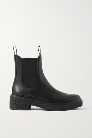 Raquel Leather Chelsea Boots - Black