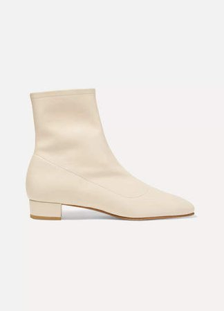 Este Leather Ankle Boots - White