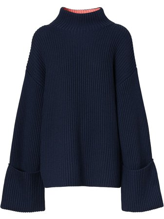 Burberry ribbed-knit bell-sleeve Jumper - Farfetch