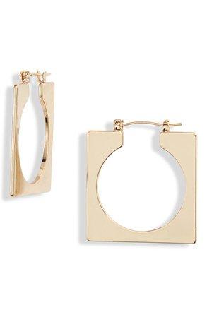 Ettika Geo Square Open Hoop Earrings | Nordstrom