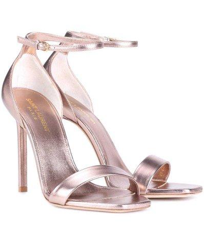 Amber 105 Leather Sandals | Saint Laurent - mytheresa
