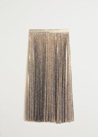Metallic pleated skirt - Women