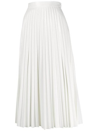 Mm6 Maison Margiela Pleated Midi Skirt | Farfetch.com
