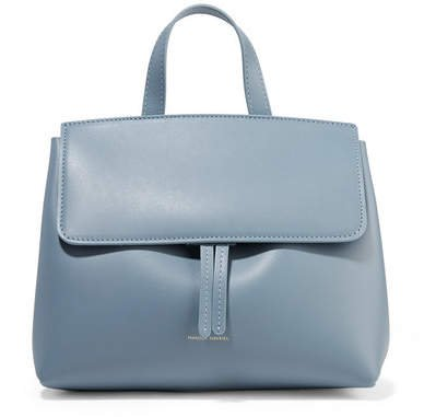 Mini Mini Lady Leather Tote - Light blue