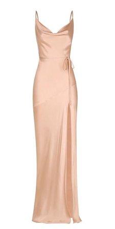 satin silk long dress