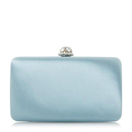 BIANA - Diamante Clutch - pale blue | Dune London