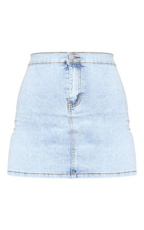 Vintage Wash Disco Fit Denim Skirt | Denim | PrettyLittleThing