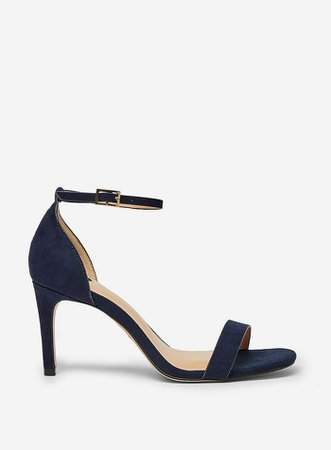 Wide Fit Navy Soda Square Sandals | Dorothy Perkins