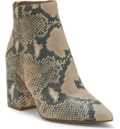 Vince Camuto Benedie Pointed Toe Bootie (Women) brown