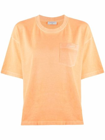 Sandro Paris Round Neck short-sleeved T-shirt - Farfetch