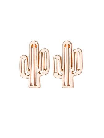 Cactus Design Stud Earrings