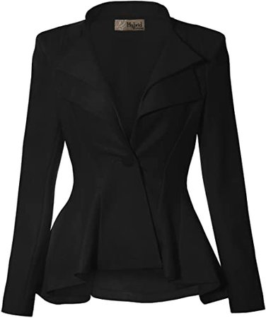 Hybrid & Company Womens Casual Work Office Blazer Jacket Made in USA at Amazon Women's Clothing store
