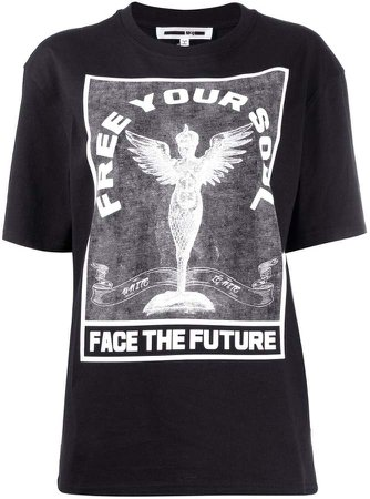 'Free your soul' printed T-shirt
